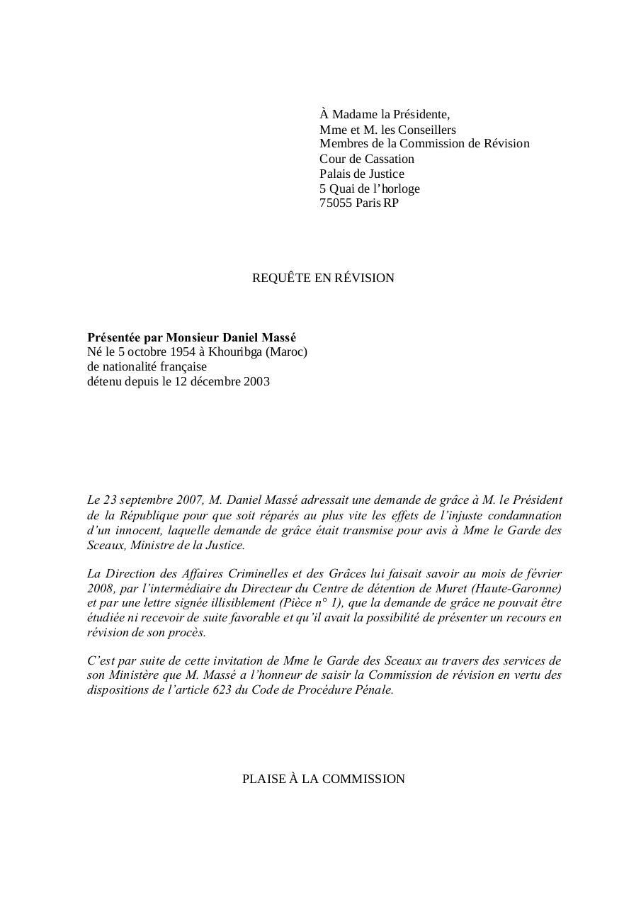 Aperçu Requete_Daniel-Masse_Juin-2009.pdf - Page 1/257