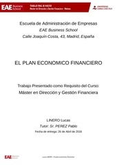 tesis el plan economico financiero linero lucas
