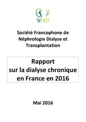 rapport dialyse chronique france 2016 sfndt 1