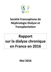 rapport dialyse chronique france 2016 sfndt