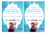 Fichier PDF invitations reines des neiges