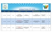 programme animations ete 2016