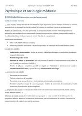 psychologie et sociologie medicale