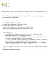 Fichier PDF cahier des charges pour fichiers d impression