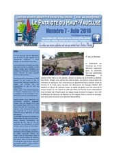 le patriote du haut vaucluse numero 7 juin 2016