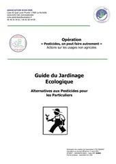 livre guide du jardinage ecologique