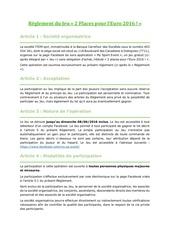 reglement 2placespourl euro2016