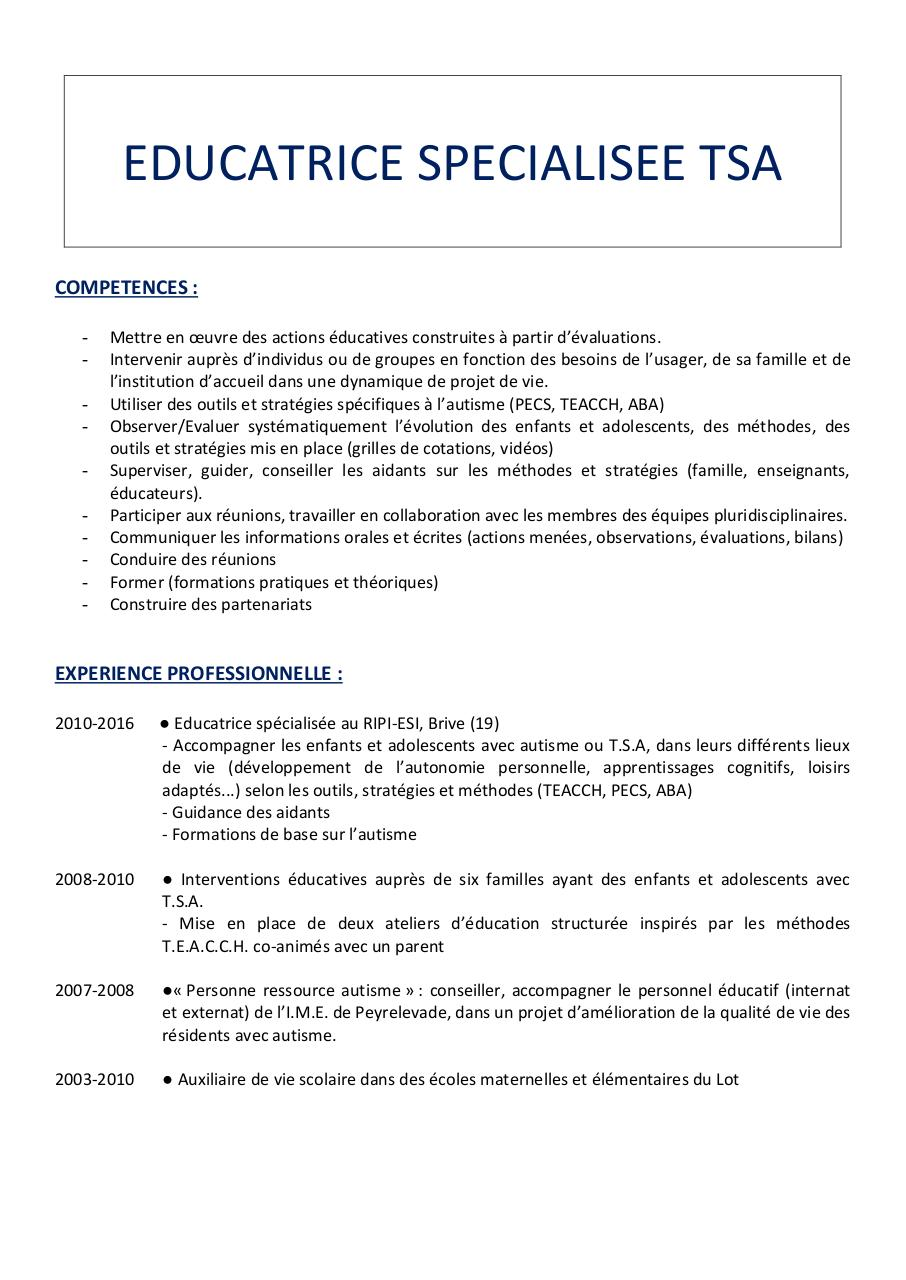 jessica harrison par jessica - cv autisme facebook pdf