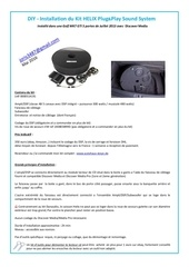 diy installation du kit helix plug play sound system