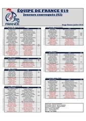 liste edf u19 camps juillet 2016 3