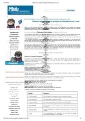 gestion des comptes et groupes d utilisateurs sur linux