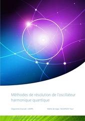 Fichier PDF rapport de stage oscillateur harmonique quantique