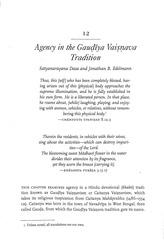 agency in the gauiya vaiava tradition