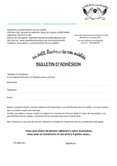 bulletin d adhesion a l association