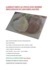 Fichier PDF lahmat thon au four avec bomme mousseline et legumes a la vapeur