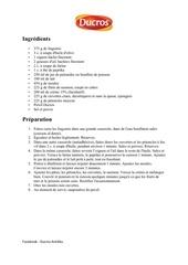 recette linguines fruits de mer ducros