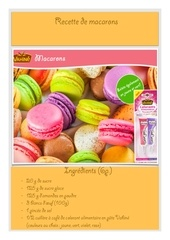 Fichier PDF recette macarons vahine