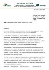 proposition de projet pour le climat