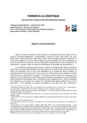 colloque lassp former a la leg istique 19 20 janvier 2017