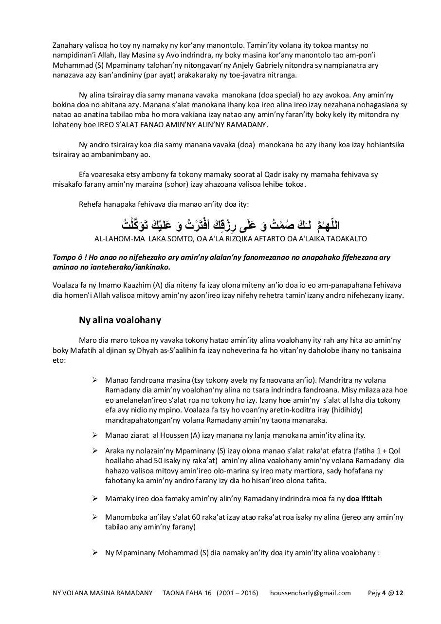 Doa Iftitah Pdf