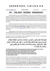 korbatane 6 ny volana masina ramadany version 2016