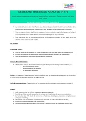 fiche de poste assistant business analyse voyagessncf