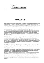 les elementaires prologue