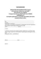 application for certification