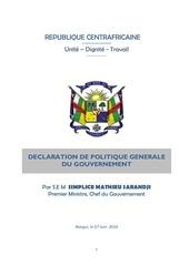 declaration politique generale pm sms