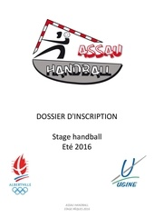 Fichier PDF dossier d inscription stage ete 2016