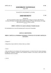amendement n 69 veo