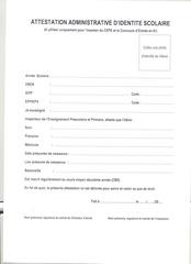 attestation administrative d identite scolaire