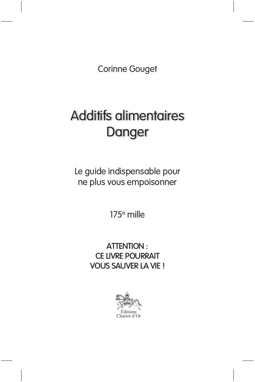 Corine Gouget - Les Additifs Alimentaires.pdf - page 1/18