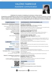 cv valerie fabregue assistante communication