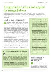 Fichier PDF magnesium