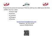 Fichier PDF poste de travail pour l hotel du golf aux arcs 1800