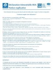 rsa declaration trimestrielle 2 3