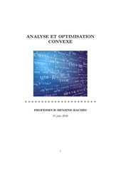 Fichier PDF analyse et optimisation convexe professeur benzine rachid