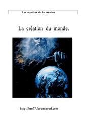 Fichier PDF la creation du monde