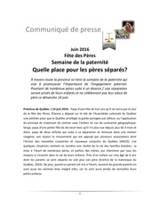 communique petition paternite