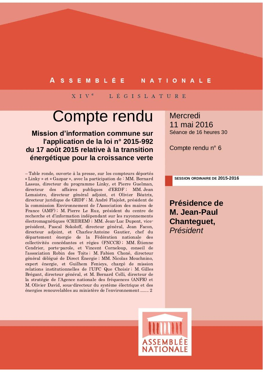 Aperçu du document CR table ronde assemblée nationale mai 2016.pdf - page 1/40