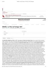 israel le plan de partage 1947