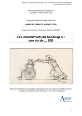 les intermittents du handicap memoire nelly serre