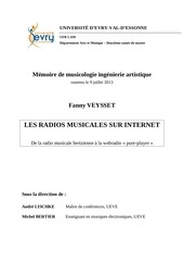 memoire radios musicales internet f veysset