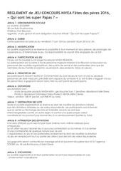 reglement jeu concours niveamen fdp
