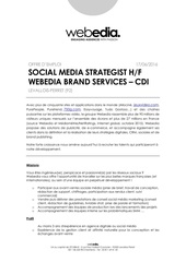 social media strategist hf webedia cdi
