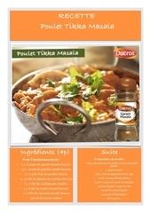 recette ducros poulet tikka