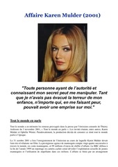 affaire karen mulder 2001