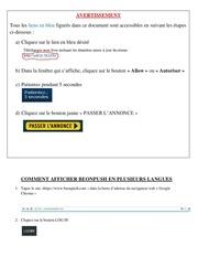 Fichier PDF comment afficher beonpush en d autres langues