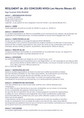 reglement jeu nivea heures bleues juin 2016